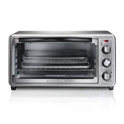 Sure Crisp 1440 W 6-Slice Stainless Steel Toaster Oven with Air Fry