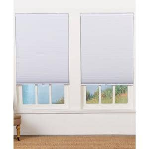 Cut-to-Width White Cordless Blackout Cellular Shade - 65 in. W x 64 in. L
