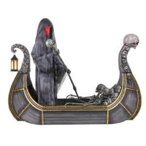 8 ft Giant Animated Ferry of the Dead Yard Decoration with LED Lights