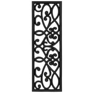 Dirt Off Black Iron Cutout Slice 18 in. x 30 in. Rubber Stair Treads