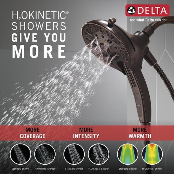 Delta Universal Showering Components Venetian Bronze 5-Spray Dual Shower Head