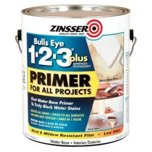 Bulls Eye 1-2-3 Plus 1 gal. White Water-Based Interior/Exterior Primer and Sealer (2-Pack)