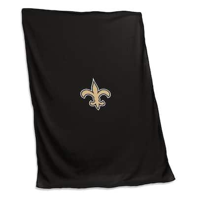 New Orleans Saints Black Polyester Sweatshirt Blanket