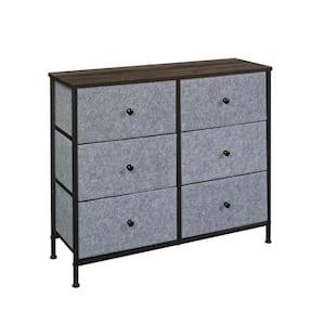 North Avenue Grey and Smoked Oak 2x3 Storage Organizer Cabinet