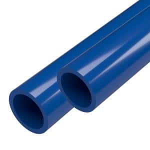 1 in. x 5 ft. Furniture Grade Schedule 40 PVC Pipe in Blue (2-Pack)