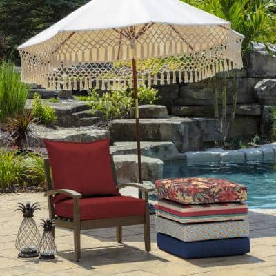 22 in. x 19 in. Ruby Leala Texture 2-Piece Deep Seating Outdoor Lounge Chair Cushion