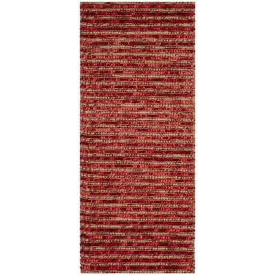 Bohemian Red/Multi 3 ft. x 6 ft. Striped Runner Rug