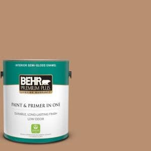 Behr Premium Plus 1 Gal P360 4 Soda Pop Semi Gloss Enamel Low Odor Interior Paint And Primer In One 340001 The Home Depot