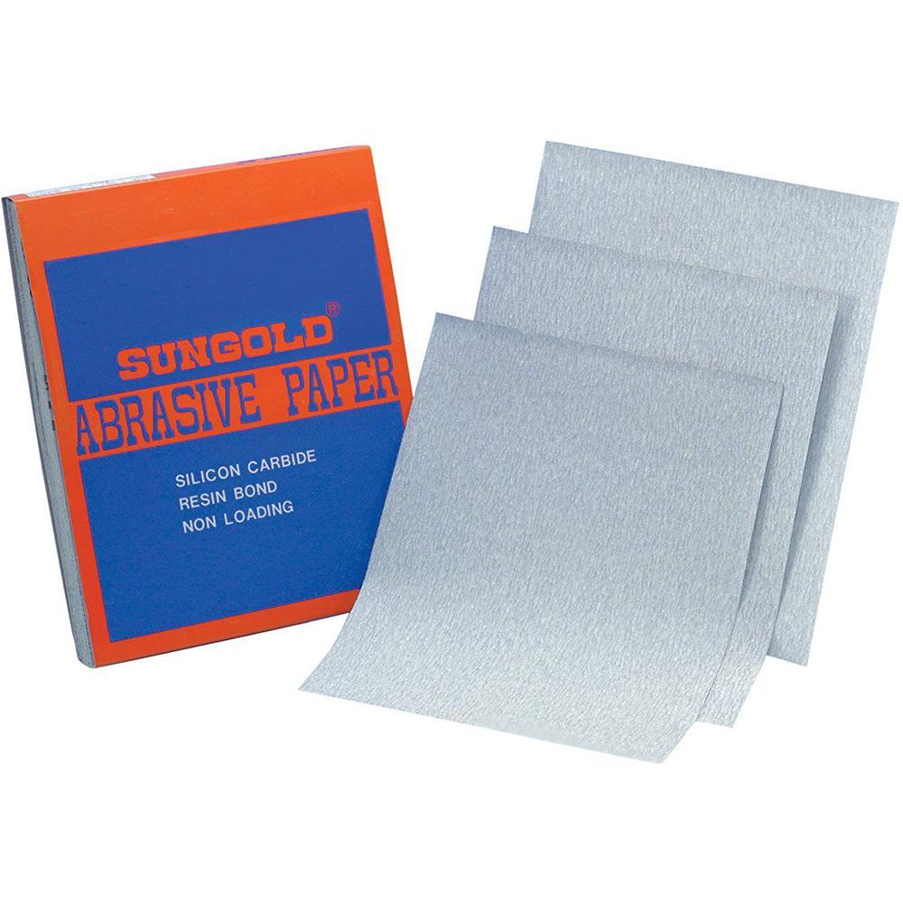 9 in. W x 11 in. L 120-Grit Medium Silicon Carbide Sanding Sheet Sandpaper (100-Pack)
