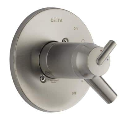 Trinsic TempAssure Single-Handle Diverter Valve Only Trim in Stainless (Valve Not Included)