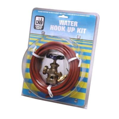 Evaporative Cooler Water Hook-Up Kit with Angle Valve