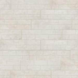 Painted Brick White 6 in. x 24 in. Porcelain Floor and Wall Tile (14 sq. ft./Case)