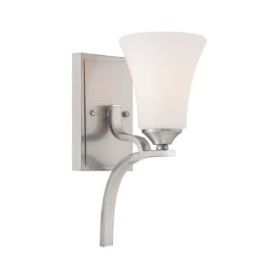 Treme 1-Light Brushed Nickel Bath Light