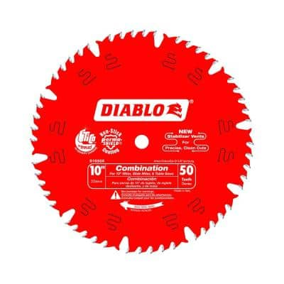 10 in. x 50-Teeth Combination Saw Blade