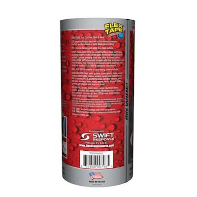 Flex Tape Gray 8 in. x 5 ft. Strong Rubberized Waterproof Tape (4-Piece)