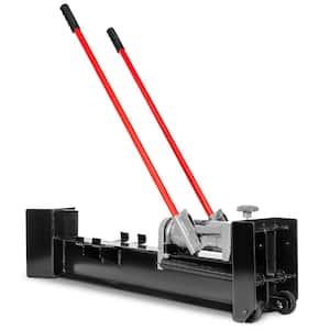 12-Ton Hydraulic Manual Wood Cutter Unit Log Splitter with Built-in Wheels