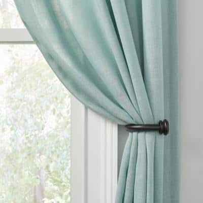 Mix and Match 1 in. Curtain Holdback in Matte Black (2-Pack)