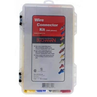 Standard and Winged Wire Connector Assortment Kit with Case
