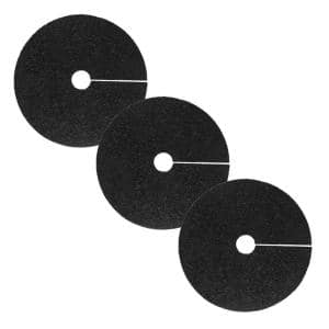 24 in. Black Recycled Rubber Tree Ring (3-Pack)