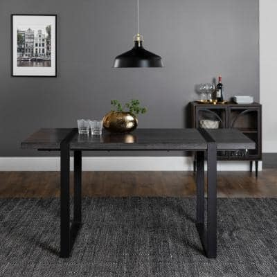 Urban Blend 60 in. Charcoal Wood Dining Table