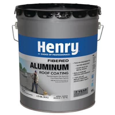4.75 Gal. Premium Fibered Aluminum Reflective Roof Coating