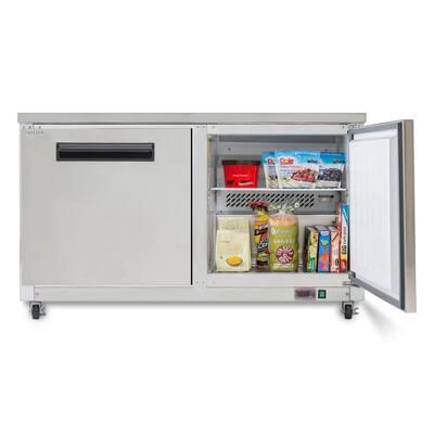 X-Series 15.5 cu. ft. Double Door Undercounter Commercial Freezer in Stainless Steel