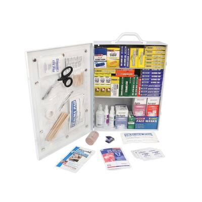1100-Piece 3-Shelf First Aid Cabinet
