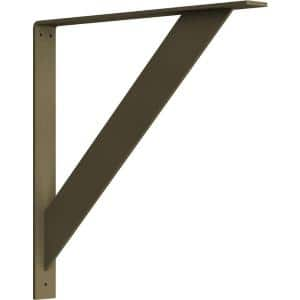 2 in. x 20 in. x 20 in. Steel Hammered Gold Traditional Bracket