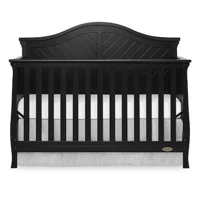 Kaylin Black 5 in 1 Convertible Crib