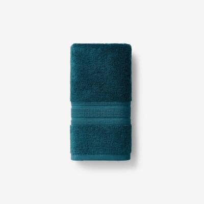 Company Cotton Deep Teal Solid Turkish Cotton Hand Towel
