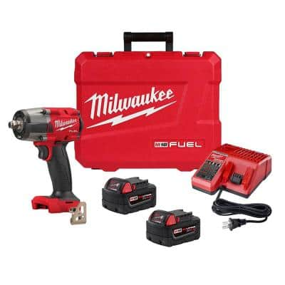 M18 FUEL GEN-2 18-Volt Lithium-Ion Brushless Cordless Mid Torque 1/2 in. Impact Wrench with Friction Ring Kit