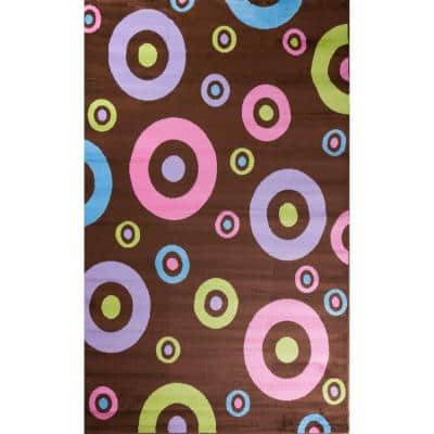 Alisa Dots in Dots Brown 3 ft. x 4 ft. Area Rug