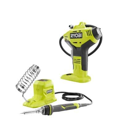 18V ONE+ Cordless 2-Tool Combo Kit with High Pressure Inflator with Digital Gauge and 40-Watt Soldering Iron (ToolsOnly)