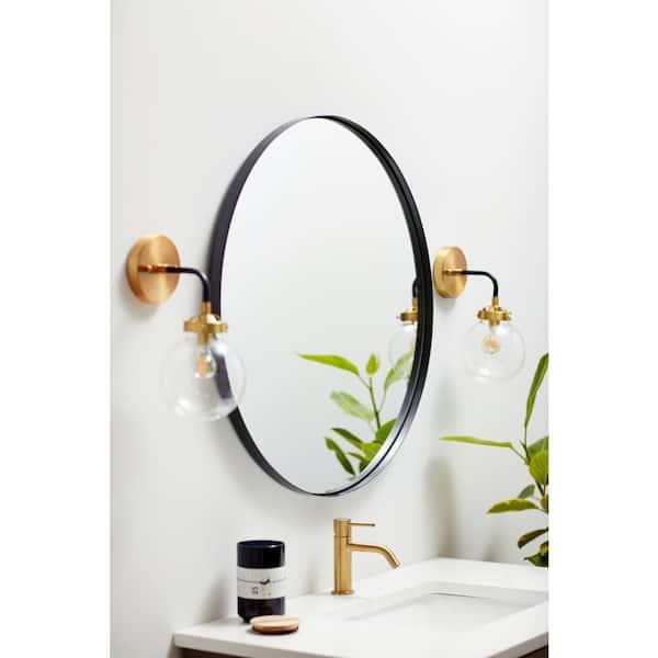 Better Bevel 24 In X Metal, Black Bathroom Mirrors