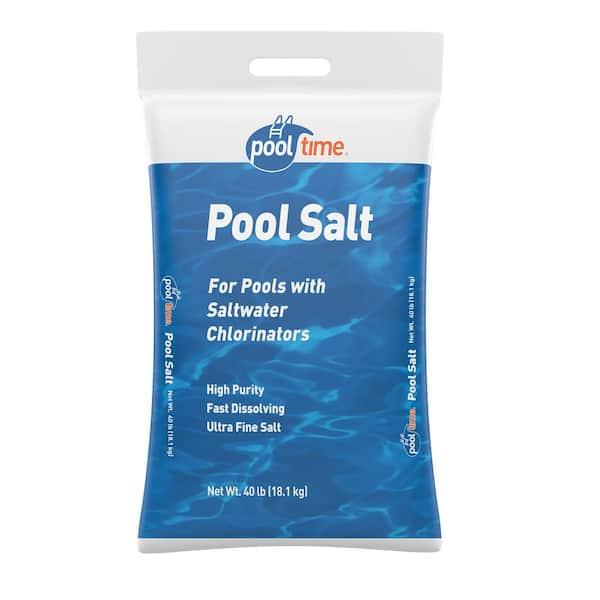 Pool Time 40 Lb Pool Salt Bag 40b Ptmpool The Home Depot