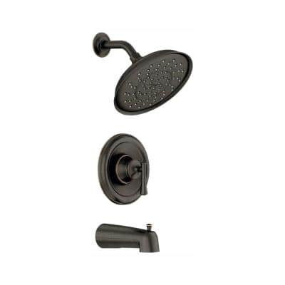 Ashville Single-Handle 1-Spray Tub and Shower Faucet in Mediterranean Bronze (Valve Included)