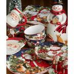 72 oz. Magic Of Christmas Snowman Multicolored Earthenware Santa Cookie Jar