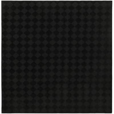 Diamond Black 12 ft. x 12 ft. Area Rug
