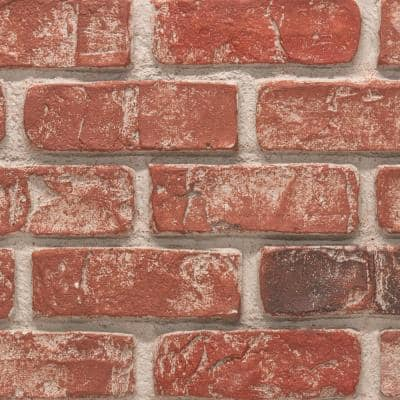 Used Brick 11 in. x 11 in. Old Town Faux Brick Siding Sample