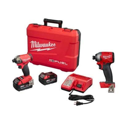 M18 FUEL SURGE 18-Volt Lithium-Ion Brushless Cordless 1/4 in. Hex Impact Driver Kit with Free M18 FUEL Impact Driver