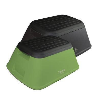 Garden/Home Multi-Purpose Plastic Step Stool, 500 lb. Load Capacity (2-Pack)