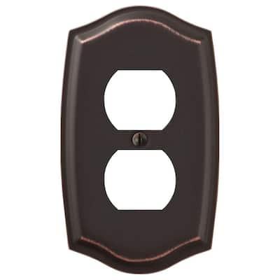Vineyard Aged Bronze 1-Gang Duplex Steel Wall Plate (4-Pack)
