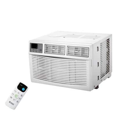 8000 BTU Window Air Conditioner with Remote and 3 in 1 (Cool, Fan, Dry) Large LED Display in White