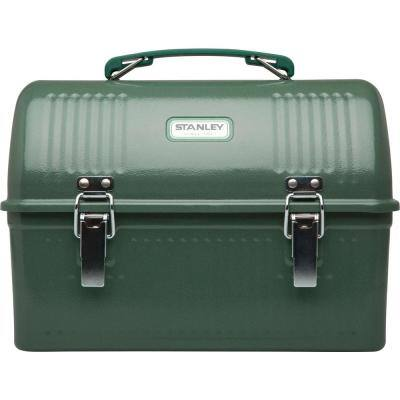 Classic 10 qt. Hammertone Green Stainless Steel Lunch Box