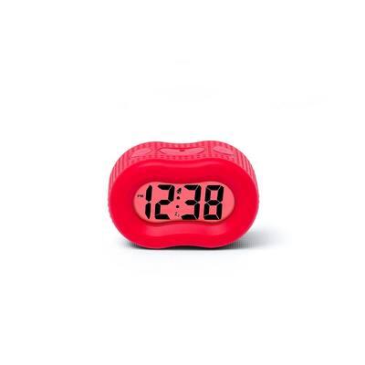 88192F- Rubber Red Smartlight Alarm Clock