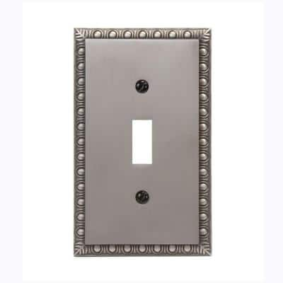 Antiquity 1 Gang Toggle Metal Wall Plate - Antique Nickel