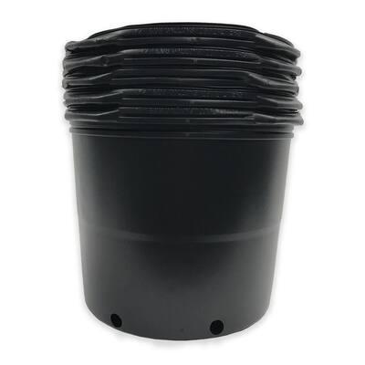 7 Gal. 11.74 in. x 11.5 in. Plastic Nursery Gardening Trade Pots (5-Pack)