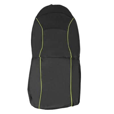 Black Open Road Mess-Free Single Seated Safety Car Seat Cover