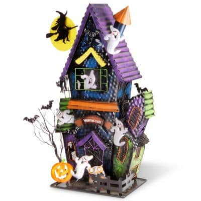 21 in. Ghost House Candle Holder