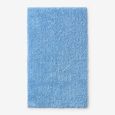 Company Cotton Chunky Loop Blue Water 21 in. x 34 in. Bath Rug